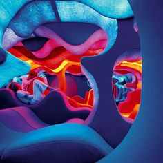 The exhibition underway at Vitra Design Museum Gallery features a lifesized reconstruction of Verner Panton?s 1970 Phantasy Landscape. in News Design. Awesome Bedrooms, Cool Rooms, Coolest Bedrooms, My New Room, My Room, Vitra Design Museum, Chill Room, Relax Room, Futuristic Interior