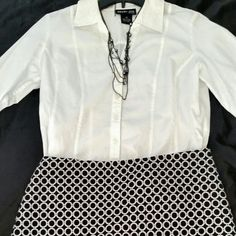 """INC. Black and White Skirt **NWOT**   Perfect for the office or interviews.   Length: 18"""". Shell: 65% Polyester, 35% Cotton. Lining: Acetate.   Dry Clean only. INC International Concepts Skirts"""