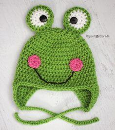 Crochet Frog Hat Pattern   Repeat Crafter Me   Bloglovin'
