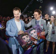 My two favorite actors- Robert Downey Jr. and Benedict Cumberbatch