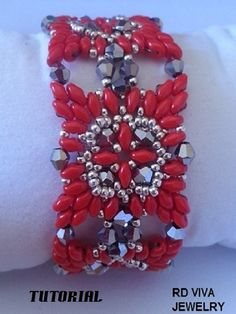 Tutorial Florida Bracelet Superduo With Swarovski by RDVIVAJEWELRY, $6.00