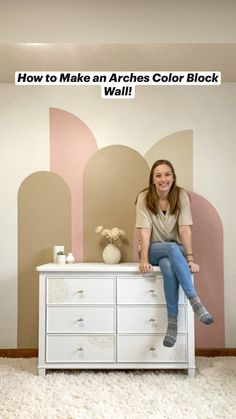 Rose Bedroom, Accent Wall Bedroom, Accent Wall Colors, Bedroom Cupboard Designs, Closet Shelves, Block Wall, Wall Patterns, Atrium, Baby Decor