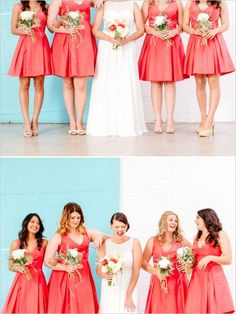 Bridesmaid Dresses, read those delightfully beautiful photo snap-shots 4280129277 now. Coral Bridesmaid Dresses, Red Bridesmaids, Wedding Photography Inspiration, Wedding Inspiration, Wedding Ideas, Wedding Looks, Dream Wedding, Bridal Style, Photos