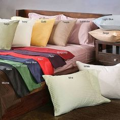 300 Thread Count Egyptian Cotton Stripe Sheet Set Simple Luxury Size: Queen, Color: taupe