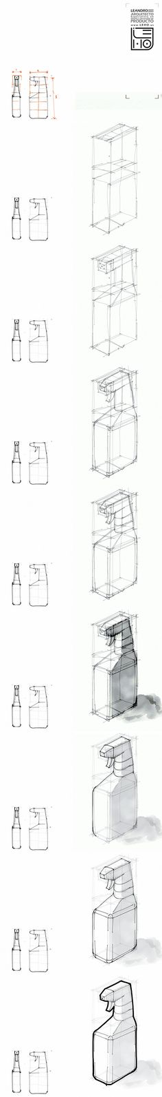 Tutorial rapido de bocetacion. Botella Bottle sketch