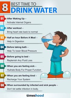 8 best time to drink water morning pinterest salud vida