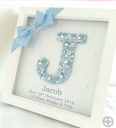 Baby diy keepsakes shower gifts Ideas for 2019 Deco Baby Shower, Baby Boy Shower, Baby Shower Gifts, Baby Shower Frame, Baby Shower Hamper, Baby Shower Cards, Baby Showers, Baby 1st Birthday Gift, Birthday Gifts For Boys