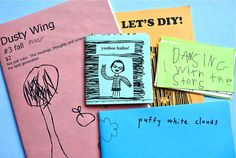 "How-To: Zine-Making for Kids | MAKE: Craft----such a great idea to take them through the process, from dummy zinemodels to the ""published"" final product, great writing activity"
