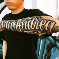 mia-andrea/ delivers online tools that help you to stay in control of your personal information and protect your online privacy. Chicano Tattoos, Lettrage Chicano, Dope Tattoos, Badass Tattoos, Tattoo Lettering Design, Tattoo Script, Tattoo Fonts, Letter Tattoos On Hand, Forearm Name Tattoos