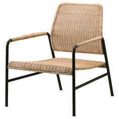Chaise Ikea, Rattan Armchair, Rattan Furniture, Handmade Furniture, Outdoor Furniture, Recliner Chairs, Rattan Chairs, Glass Cabinet Doors, Furniture Making