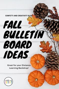 Do you love everything that comes with the season of Fall?! From pumpkins to colorful leaves! Bring the season and comfort of Fall to your classroom and even your distance learning classroom with these beautiful Fall decor ideas for your bulletin board or distance learning backdrop. These are wonderful tips and ideas even if you have a very small area to work with. #fallclassroomdecorations #distancelearningbackdrop #bulletinboardideas #classroomdecorations High School Classroom, Classroom Walls, Classroom Posters, Kindergarten Classroom, Holiday Bulletin Boards, Classroom Bulletin Boards, Seasonal Decor, Fall Decor, Fall Classroom Decorations