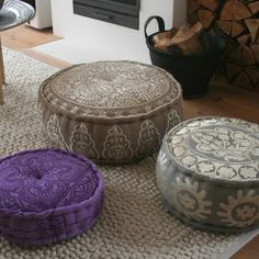 moroccan style pouff