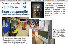 aménagement de la classe selon les IM chez Elodie Coins, Organiser, Spaces, 1st Grades, Management, Preschool, Rooms