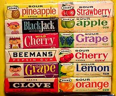 My sister and I chewed and swallowed so much BlackJack gum that we both threw up. Goes to prove that too much of a good thing can make you sick. Retro Candy, Vintage Candy, Vintage Toys, Retro Vintage, Old Fashioned Love, Old Fashioned Candy, Canada Day Crafts, Popular Candy, Vintage Sweets