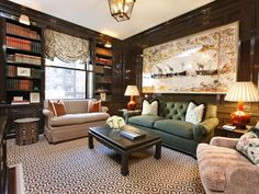 Superb Renovation at 812 Park Ave large scale art hicks hexagon carpet  black lacquer walls