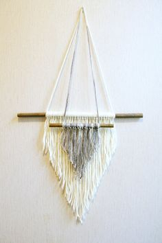 Wall hanging yarn hanging woven wall weaving macrame by Delekselja