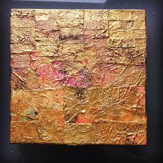 """Mixed media on box canvas 8"""" by 8"""" Sold"""