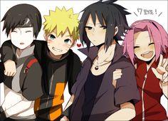Pixiv Id 2863328, Naruto the Movie: Road to Ninja, NARUTO, Sai, Uchiha Sasuke, Uzumaki Naruto