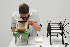 The Smallest Printing Company: Miniature Printing Presses For a Mobile Printing Studio screen printing printmaking letterpress