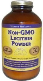 Health Alliance Non-GMO Lecithin Powder  supports healthy cholesterol and triglyceride levels, as well as cardiovascular, nerve, brain function, and liver function.