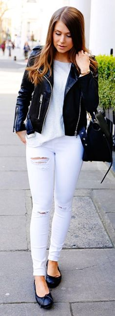 #spring #summer #street #style #outfitideas   Black And White Street Style  Mariannan