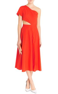Amy One Shoulder Cut-Out Dress by Tanya Taylor - Moda Operandi