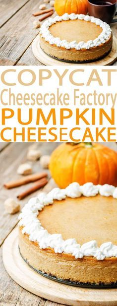Everyone loves this Pumpkin Cheesecake Factory Copycat Recipe. Its just like the restaurants pumpkin cheesecake and is an easy to make recipe.
