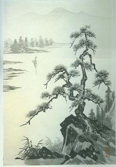 Lake and Pine Tree- PC