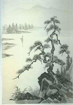Lake and Pine Tree- PC