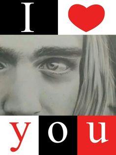 I LOVE YOU KIPURT Kurt Cobain Quotes, I Love You, Movie Posters, Movies, Te Amo, Je T'aime, Films, Film Poster, Cinema