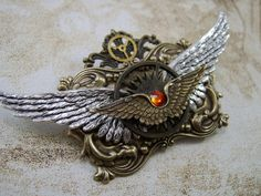 Brooch/Pin Airship Pirate Wings by TheSteamPunkCatSlave on Etsy