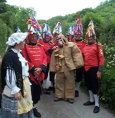Hunting of the Earl of Rone. Ancient custom/ritual in Combe Martin, North Devon. Photograph from http://www.earl-of-rone.org.uk