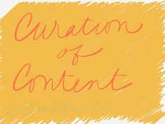 Curation of Content :: How are you curating your Professional Learning? How might you do it better?
