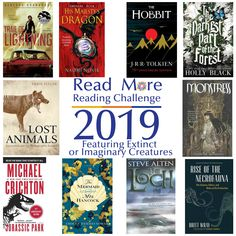 Read More Reading Challenge: A Book Featuring an Extinct or Imaginary Creature Books To Read, My Books, Michael Crichton, Holly Black, Reading Challenge, Monster Hunter, The Hobbit, Read More, Challenges