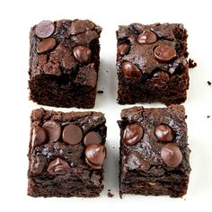 Whole-Wheat Dark Chocolate Zucchini Brownies from Nestle Kitchen - always looking for ways to turn sweets healthy(er)