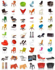mid century modern classic chairs
