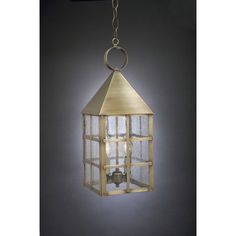 Northeast Lantern York 2 Light Outdoor Hanging Lantern Finish: Dark Antique Brass, Shade Type: Clear
