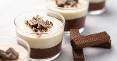 10 perces, házi pohárkrém kétféle csokiból: jobb, mint a puding - Recept | Femina Creme, Panna Cotta, Low Carb, Pudding, Keto, Ethnic Recipes, Food, Cakes, No Sugar Desserts
