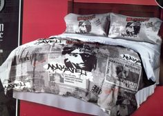 """3 Piece 2pac/tupac Grey+black+red Comforter with Pillow Case Set Queen/full Size Bed by JP Imports. $40.99. Design: Scarface luxury comforter. Material: 60% Cotton and 40% polyester. Care instruction: Machine washable. 1pc Comforter 86"""" X 86"""". 2pc pillow case 20"""" X 30"""". Official Tupac license product. Comforter sets are designed to keep you updated and fashionable in the most convenient and inexpensive way. Our comforter sets are a tremendous blend of bold and vibrant colo..."""