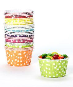 Rainbow Candy Cup Set by PhotoBoothgirls #zulily #zulilyfinds