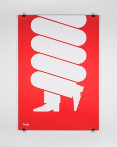 Posters of musical genres using one graphic element and one typeface