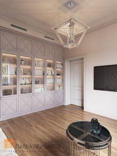 Фото: Интерьер кабинета - Интерьер загородного дома в стиле американской неоклассики, п. Токсово, 215 кв.м.