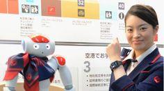 JAL inicia testes com robô humanoide, para informações, no aeroporto de Haneda, Tóquio