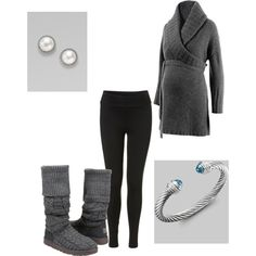 perfect for winter maternity. Warm but shows off the bump and accessorizes subtly :)