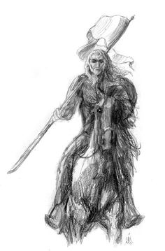 'The Standard Bearer (Sketches from Rohan)' by Jef Murray