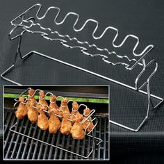 Grill perfect chicken wings!  Get the heat where you need it most.  $17.98