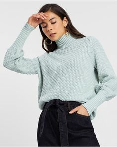 Jumpers & Cardigans | Buy Womens Jumpers Online Australia- THE ICONIC Jumpers For Women, Womens Jumpers, International Fashion Designers, Travel Wardrobe, Short Trip, Turtle Neck, Pullover, Clothes For Women