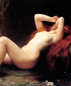 marcuscrassus:  Jules Joseph Lefebvre - Mary Magdalene in a Grotto (1876)