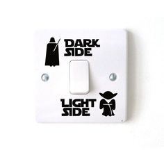 Star Wars Dark Side Light Side Light Switch Sticker