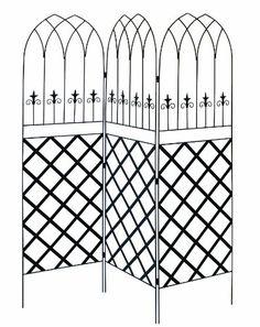 Panacea 89660 Gothic Garden Screen Trellis With Lattice, 72-Inch, Black, 2015 Amazon Top Rated Trellises #Lawn&Patio